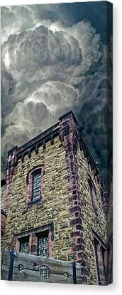 Canvas Print featuring the photograph The Cell Block Restaurant by Greg Reed