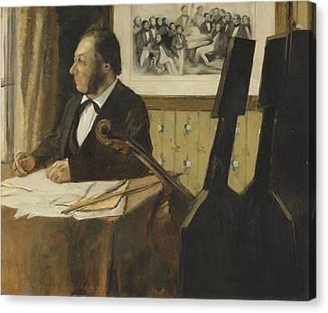 The Cellist Pilet 1868 - 1869 Canvas Print