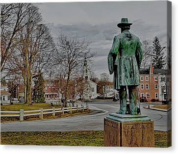 The Center Of Grafton Ma Canvas Print by Bill Dussault
