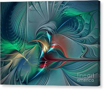 The Center Of Longing-abstract Art Canvas Print