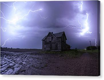 Abandoned Houses Canvas Print - The Centerville Horror by Aaron J Groen