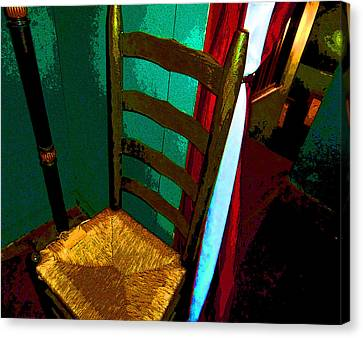 Ladderback Chair Canvas Print - The Chair by Mindy Newman