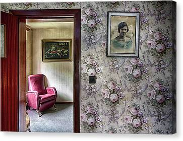 Canvas Print featuring the photograph The Chair Of Lost Opportunities by Dirk Ercken
