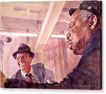 Famous People Canvas Print - The Chairman Meets The Count by David Lloyd Glover
