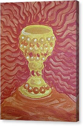 Canvas Print featuring the painting The Chalice Or Holy Grail by Michele Myers