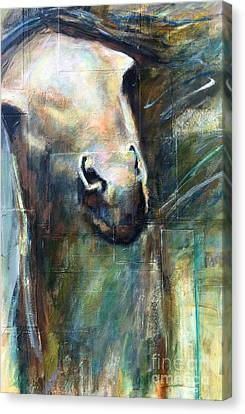 Canvas Print featuring the painting The Chameleon  by Frances Marino