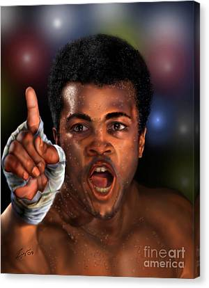 The Champ Is Here -period Canvas Print by Reggie Duffie