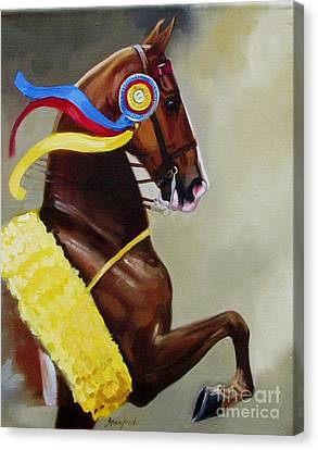 The Champion Canvas Print by Janet  Crawford