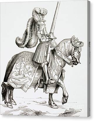 Armor Canvas Print - The Champion Of The Tournament by French School