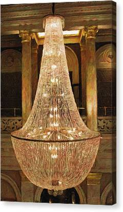 The Chandelier Too Canvas Print