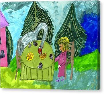 Tea Party Canvas Print - The Chaotic Tea Party by Elinor Helen Rakowski