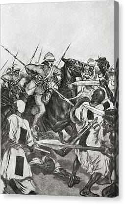 21st Century Canvas Print - The Charge Of The 21st Lancers by Vintage Design Pics