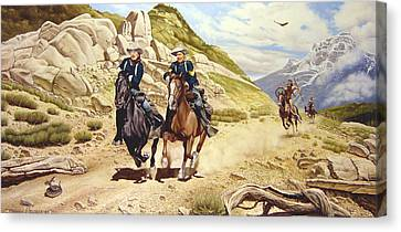 Southwestern Canvas Print - The Chase by Marc Stewart