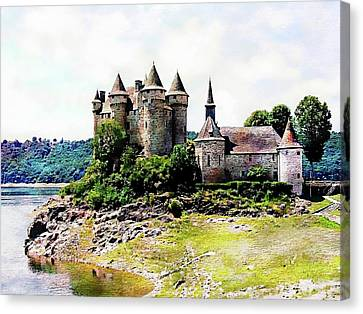 Canvas Print featuring the photograph The Chateau De Val by Joseph Hendrix