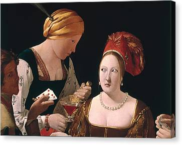 The Cheat With The Ace Of Diamonds Canvas Print by Georges de la Tour