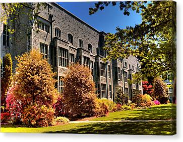 The Chem Building At Ubc Canvas Print by Lawrence Christopher