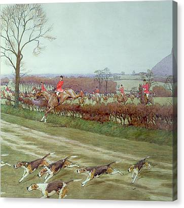 The Cheshire Away From Tattenhall Canvas Print by Cecil Charles Windsor Aldin