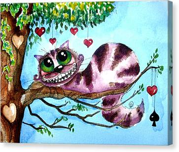 Cheshire Cat Canvas Print - The Cheshire Cat by Lucia Stewart