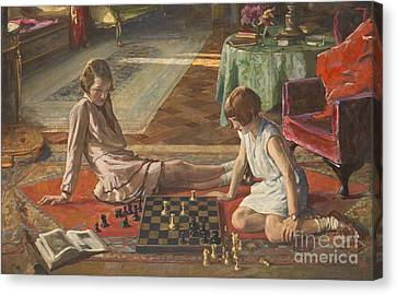 The Chess Players Canvas Print