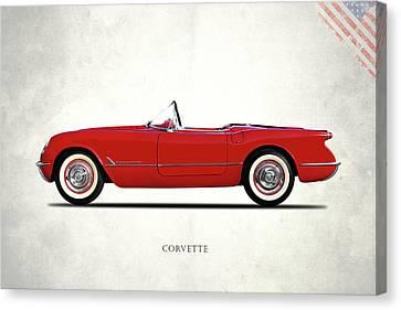 The Chevrolet Corvette 1954 Canvas Print by Mark Rogan