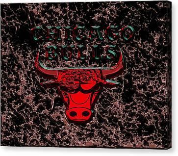 Utah Jazz Canvas Print - The Chicago Bulls 3b by Brian Reaves