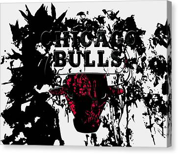 Utah Jazz Canvas Print - The Chicago Bulls  by Brian Reaves