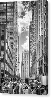 Canvas Print featuring the photograph The Chicago Loop by Howard Salmon