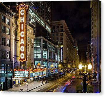The Chicago Theatre Canvas Print