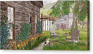Canvas Print featuring the photograph The Chicken Coop by Peter J Sucy