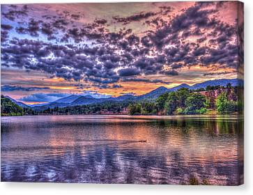 The Chief Ducks Lake Junaluska North Carolina Canvas Print