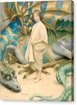 The Child In The World Canvas Print by Thomas Cooper Gotch