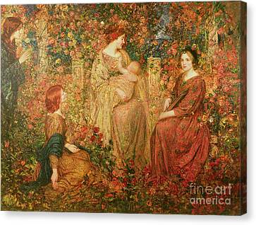 The Child Canvas Print by Thomas Edwin Mostyn