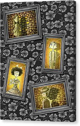The Children In The Photographs              Canvas Print