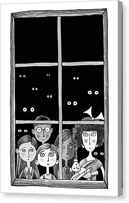 The Children In The Window Canvas Print