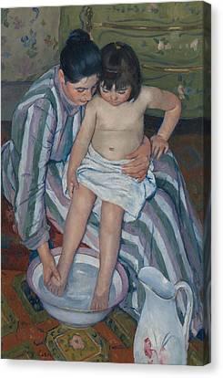 The Child's Bath Canvas Print by Mary Cassatt