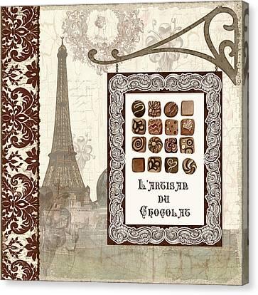 The Chocolate Artisan - Paris Canvas Print by Audrey Jeanne Roberts