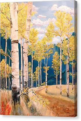 The Chosen Path Canvas Print by Rebecca Robinson
