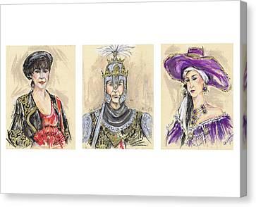 The Christian Groups Of Mojacar Or Los Cristianos De Mojacar Canvas Print by Jill Bennett