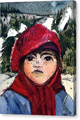 The Christmas Dreamer Canvas Print by Mindy Newman