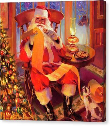 The Christmas List Canvas Print by Steve Henderson