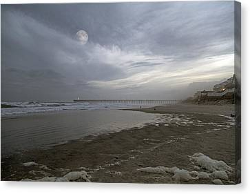 The Christmas Moon Canvas Print by Betsy Knapp