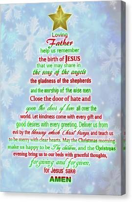 The Christmas Prayer Canvas Print by Dan Sproul