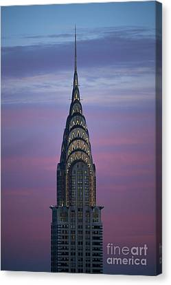 The Chrysler Building At Dusk Canvas Print by Diane Diederich