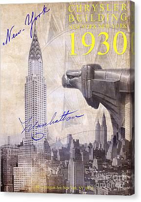 Nyc Canvas Print - The Chrysler Building by Jon Neidert
