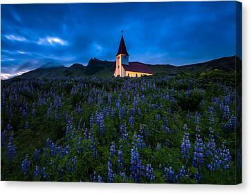 The Church At Vik Canvas Print