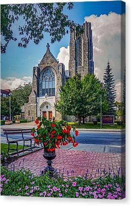 The Church In Summer Canvas Print