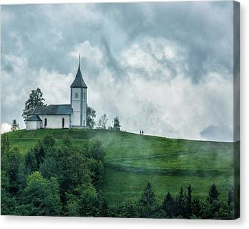 Church In The Clouds Canvas Print by Lindley Johnson