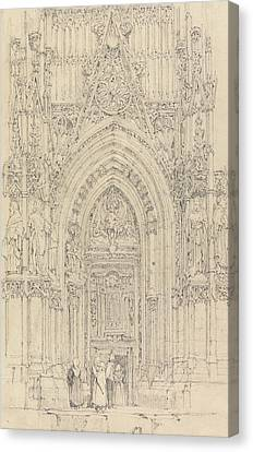 The Church Of St. Wulfran, Abbeville Canvas Print by Richard Parkes Bonington