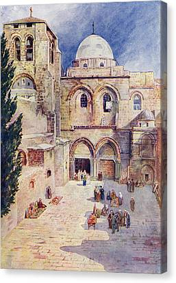 The Church Of The Holy Sepulchre Canvas Print by Vintage Design Pics