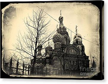 The Church Of The Savior On Spilled Blood In St.petersburg #2 Canvas Print by A Cappellari